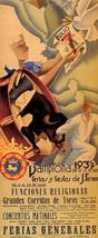 1939 Spain Pamplona Fiesta De San Fermin Bull Run Vintage Poster Repro Large - $19.75