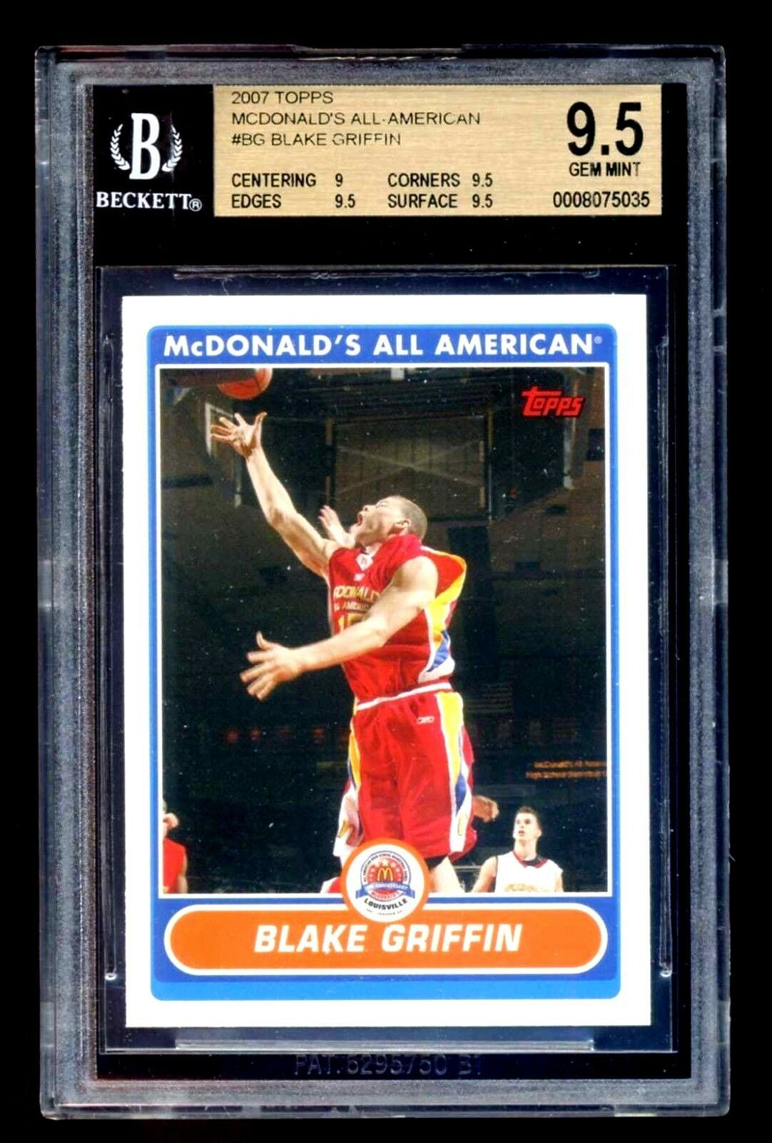 Blake Griffin RC 2007 Topps McDonald's All-American RC GEM BGS 9.5-Cippers F RC image 7