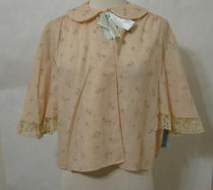 F. WEINBERG Saks Fifth Ave Bed Jacket EDIE ADAMS Wool Rose Print NWT L - $224.99