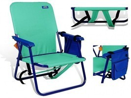 Backpack Beach Chair Folding Green Outdoor Camping Hiking Portable With ... - $58.54