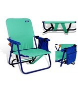 Backpack Beach Chair Folding Green Outdoor Camping Hiking Portable With ... - £43.38 GBP