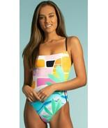 Trina Turk Mosaic Sunrise High Leg Mio Maillot One Piece Swimsuit 10 12 ... - $107.99