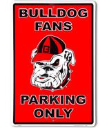 "Georgia Bulldog Fans Parking Only Aluminum Wall / Man-cave Sign 12""X18"" - $19.15"
