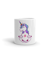 Unicorn Yoga Woman Man White Glossy Coffe Mug - $414,21 MXN
