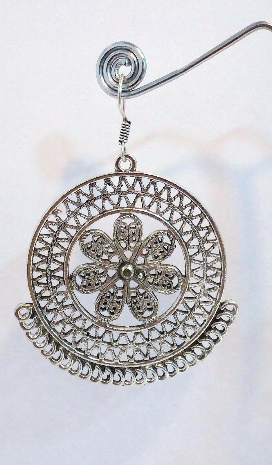 New Women Silver Plated Stylish Dangle Studs Earrings Jewelry WEDDING GIFT