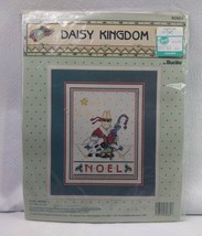 "1991 BUCILLA Daisy Kingdom Noel Bunny Cross Stitch 11""x 14""  Vintage - $14.85"