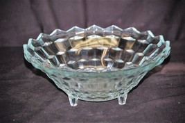 Vintage Clear Fruit Bowl  Whitehall Pattern by Colony Glass Stacked Cube... - $24.74