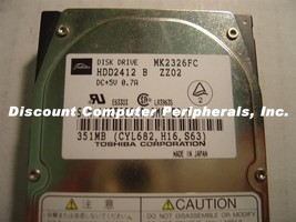 Toshiba MK2326FC HDD2412 320MB 19MM 2.5in IDE Drive Tested Good Free USA... - $48.95