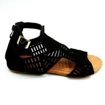 Top Moda Womanns Adele 5 Gladiator Sandal Black Heel Zipper Cushioned Sz... - $17.80