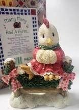 "Enesco Mary Mary Had A Farm #274151 1997 ""Eggspecting You Home For The Holidays"" - $30.86"