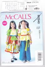Pattern McCalls 7040 Girls Size 2 3 4 5 Top Dress Pants Chelsea Andersen Easy - $3.99