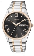 Citizen ECO-DRIVE BM8507-81E Mens Stainless Steel Silver & Gold Tone Watch Nwt - $94.89