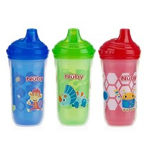 Nuby 3 Piece Insulated No Spill Easy Sip Cup with Vari-Flo Valve Hard Sp... - $11.62