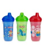 Nuby 3 Piece Insulated No Spill Easy Sip Cup with Vari-Flo Valve Hard Sp... - $11.89