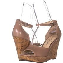 Jessica Simpson Jarella Wedge Sandals 185, Nude, 8 US - $32.63