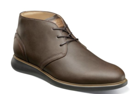 New Florsheim Fuel Plain Toe Chukka Boot Dressy Leather Brown CH 14241-215 - €107,90 EUR