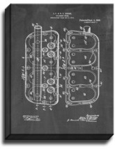 Cylinder-head Patent Print Chalkboard on Canvas - $39.95+