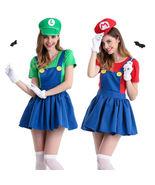 Women's Super Mario Luigi Bros Workmen Skirt Adult Costume Fancy Dress H... - $31.95