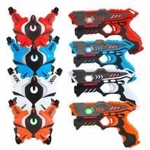 Paquete De 4 Pistolas Y Chalecos Laser Infrarojos Para Juagar A Guerra S... - $136.17