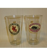 Guinness Foreign Extra Stout Glass Pint Beer Glass Rooster Set of 2 Glasses - $14.84