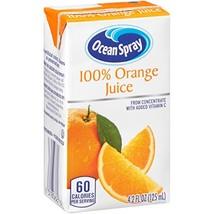 Ocean Spray 100% Orange Juice, 4.2 Ounce Juice Box Pack of 40