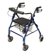 Lumex Walkabout Lite 4 Wheel Rollator-ROYALBLUE - $111.49