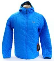 Under Armour Coldgear Storm Reactor Blue Magzip Hooded Puffer Jacket Men... - $168.74