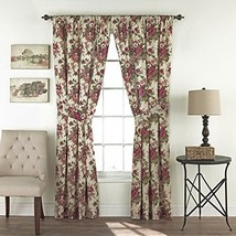 """WAVERLY Curtains for Bedroom - Norfolk 100"""" x 84"""" Decorative Double Panel Rod Po - $62.99"""