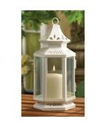 4 White Victorian Design Candle Lanterns w/ Clear Glass Medium Size 10.5... - $50.45