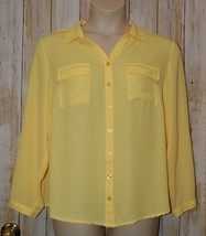 Womens Yellow CJ Banks 3/4 or Long Sleeve Shirt Size 1X excellent - $7.91