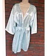 Blue Silver Robe L/XL Lace Detail Elastic Back Pockets Morgan Taylor Int... - $14.85