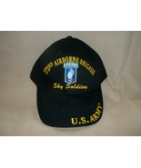 173rd Airborne Division, Sky Soldiers, 100% Cotton Ballcap - $15.84