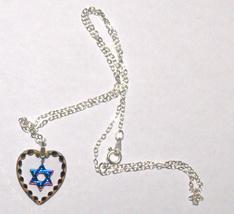 Judaica Magen David Star Crystal Pendant Multicolored Sparkle Venice Italy image 3