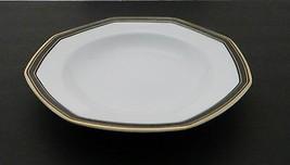 Christopher Stuart Y0009 Black Dress pattern Rim Soup Bowl in Octogan shape - $12.75