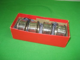 Set of 4 Vintage Stainless Steel Napkin Rings - $9.46