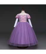 Purple Flower Girl Dress Cosplay Kids Princess Prom Gowns For Age 3-8 Ye... - £26.37 GBP