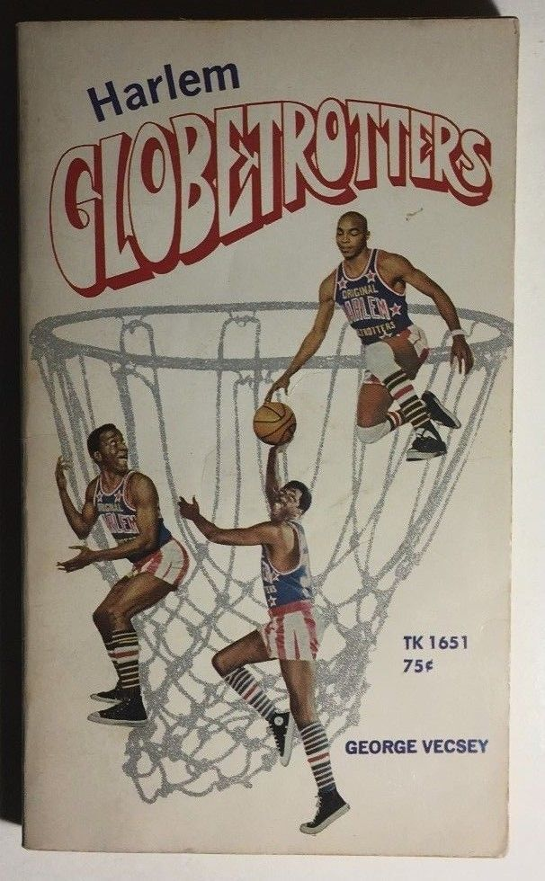 HARLEM GLOBETROTTERS by George Vecsey (1970) Scholastic illustrated pb 1st