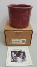 Longaberger #30212 Woven Traditions Paprika Red 1 PINT SALT CROCK In Box - $9.99