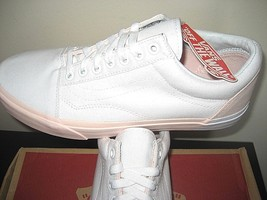 Vans Womens Old Skool Blocked Pearl Pink True White Skate Shoes Size 10 NWT - $43.55
