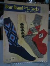 Bear Brand Hand Knit Socks for Men, Women & Children Pattern Instruction... - $10.88