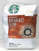 Starbucks Breakfast Blend Medium Roast Ground Coffee 12 oz - $11.14