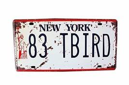 PANDA SUPERSTORE [NE YORK] Wall Decor Tin Metal Drawing Old License Number Print