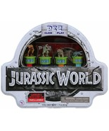 PEZ Jurassic World Click and Play Gift Tin gameboard and 4 dinosaur Pez - $14.95