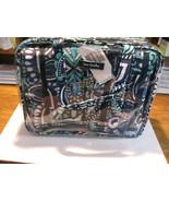 Vera Bradley 4 Pcs Cosmetic make-up travel organizer bags BLUE ISLAND ME... - $44.50