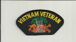 "VIETNAM  VETERAN WAR DRAGON EMBROIDERED  6"" MILITARY PATCH - $15.33"