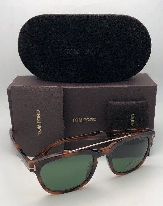 New TOM FORD Sunglasses HOLT TF 516 53N 54-19 145 Tortoise & Gold w/Green Lenses image 10