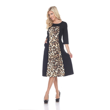 Daryn Midi Dress - Brown Tiger - $32.99