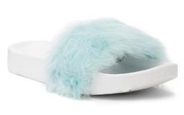 New in Box - UGG Australia Royale Genuine Lamb Fur Baby Blue Slide Size 10 - $39.59