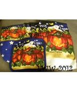 Laurie Korsgaden Peek a Boo Ghost Cat Pumpkin 5 Pc Halloween towels & ov... - $12.99