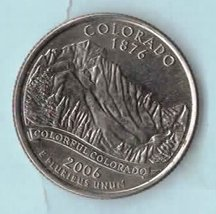 2006 D Colorado State Washington Quarter - Near uncirculated About AU58 - $1.25